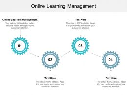 Online Learning Management Ppt Powerpoint Presentation Styles Sample Cpb