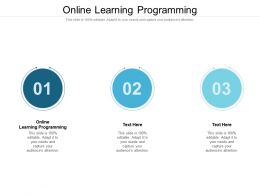 Online Learning Programming Ppt Powerpoint Presentation Styles Show Cpb