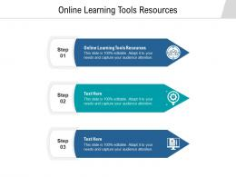 Online Learning Tools Resources Ppt Powerpoint Presentation Pictures Shapes Cpb