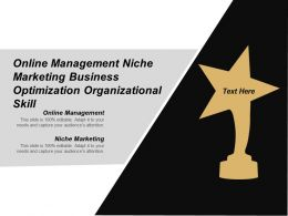 Online Management Niche Marketing Business Optimization Organizational Skill