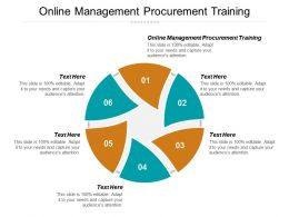Online Management Procurement Training Ppt Powerpoint Presentation Ideas Grid Cpb