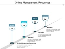 Online Management Resources Ppt Powerpoint Presentation Pictures Images Cpb