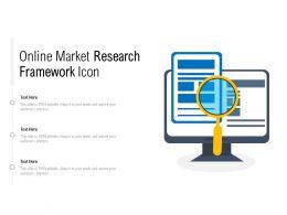 Online Market Research Framework Icon