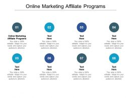 Online Marketing Affiliate Programs Ppt Powerpoint Presentation Outline Cpb