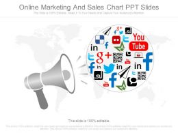 Online Marketing And Sales Chart Ppt Slides