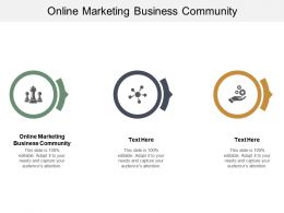 Online Marketing Business Community Ppt Powerpoint Presentation Gallery Example File Cpb
