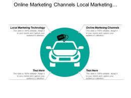 Online Marketing Channels Local Marketing Technology Advertising Tool