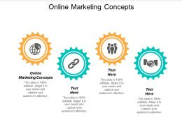 Online Marketing Concepts Ppt Powerpoint Presentation Ideas Gridlines Cpb