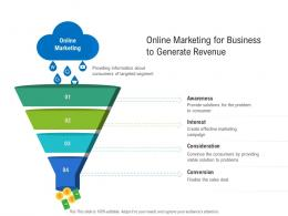 Online Marketing For Business To Generate Revenue