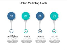Online Marketing Goals Ppt Powerpoint Presentation Show Professional Cpb