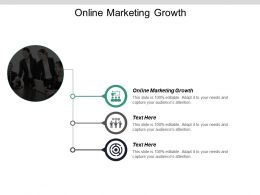 Online Marketing Growth Ppt Powerpoint Presentation Infographics Smartart Cpb