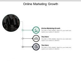Online Marketing Growth Ppt Powerpoint Presentation Infographics Smartart Cpb