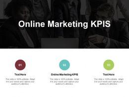 Online Marketing KPIS Ppt Powerpoint Presentation Ideas Summary Cpb