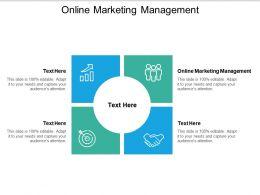 Online Marketing Management Ppt Powerpoint Presentation Slides Inspiration Cpb