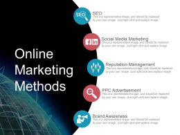 Online Marketing Methods Ppt Infographics