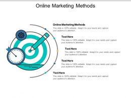 Online Marketing Methods Ppt Powerpoint Presentation Styles Examples Cpb