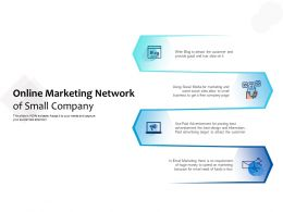 Online Marketing Network Of Small Company