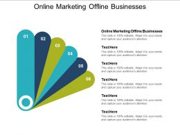 Online Marketing Offline Businesses Ppt Powerpoint Presentation File Icons Cpb