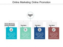 Online Marketing Online Promotion Ppt Powerpoint Presentation Icon Guide Cpb