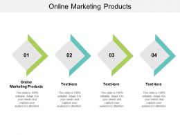 Online Marketing Products Ppt Powerpoint Presentation Gallery Master Slide Cpb