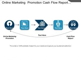 Online Marketing Promotion Cash Flow Report Project Management Cpb