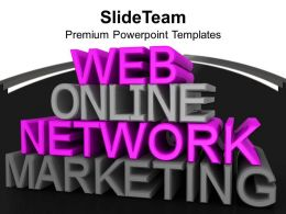 Online Marketing Related Words PowerPoint Templates PPT Themes And Graphics 0213