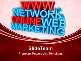 Online Marketing Related Words WWW Web PowerPoint Templates PPT Themes And Graphics 0213
