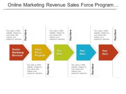 Online Marketing Revenue Sales Force Program Product Marketing Cpb