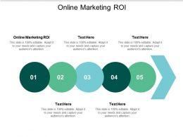 Online Marketing ROI Ppt Powerpoint Presentation Styles Good Cpb