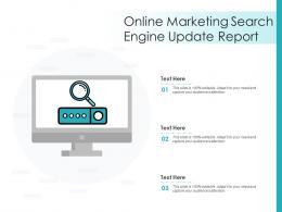 Online Marketing Search Engine Update Report