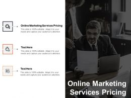 Online Marketing Services Pricing Ppt Powerpoint Presentation Styles Inspiration Cpb