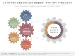 Online Marketing Solutions Template Powerpoint Presentation
