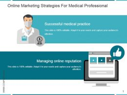 Online Marketing Strategies For Medical Professional Powerpoint Shapes