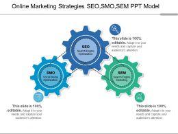 Online Marketing Strategies SEO SMO SEM PPT Model