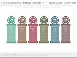 Online Marketing Strategy Analysis Ppt Presentation Powerpoint