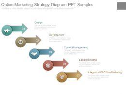 Online Marketing Strategy Diagram Ppt Samples