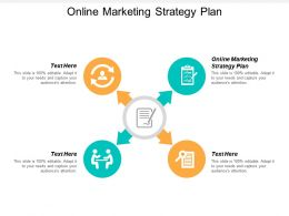 Online Marketing Strategy Plan Ppt Powerpoint Presentation Inspiration Example File Cpb
