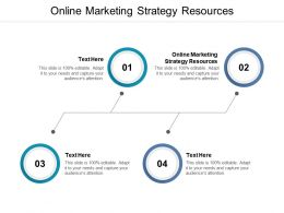 Online Marketing Strategy Resources Ppt Powerpoint Presentation Summary Demonstration Cpb