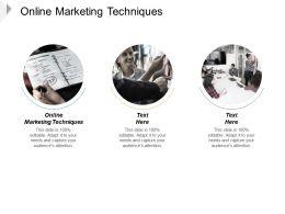 Online Marketing Techniques Ppt Powerpoint Presentation Slides Graphics Cpb
