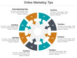 Online Marketing Tips Ppt Powerpoint Presentation Outline Objects Cpb
