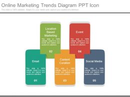 Online Marketing Trends Diagram Ppt Icon