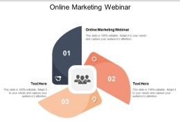 Online Marketing Webinar Ppt Powerpoint Presentation Layouts Guidelines Cpb