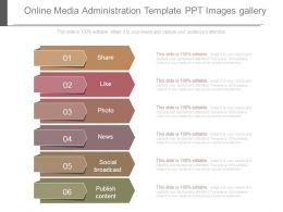 Online Media Administration Template Ppt Images Gallery