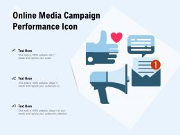 Online Media Campaign Performance Icon