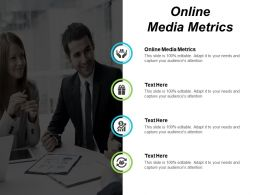 Online Media Metrics Ppt Powerpoint Presentation Infographic Template Example Cpb