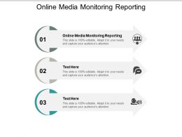 Online Media Monitoring Reporting Ppt Powerpoint Presentation Portfolio Slides Cpb