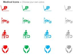 Online Medical Help Hospital Facility Service For Handicapped Health Insurance Ppt Icons Graphics