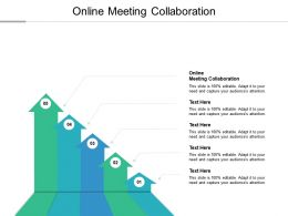 Online Meeting Collaboration Ppt Powerpoint Presentation Show Clipart Cpb