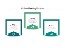 Online Meeting Display Ppt Powerpoint Presentation Infographic Template Topics Cpb
