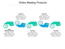 Online Meeting Products Ppt Powerpoint Presentation Summary Grid Cpb